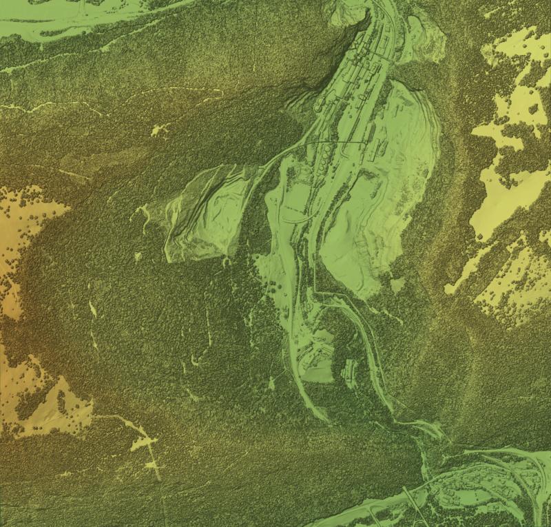 LIDAR-DOM von Rondchatel aus Tilemill